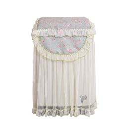 Princess Style Floral Pattern Drum Washing Cloth Dust Cover