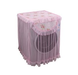 Mo Flowers Pattern PINK Paragraph Drum Washing Cloth Dust Cover